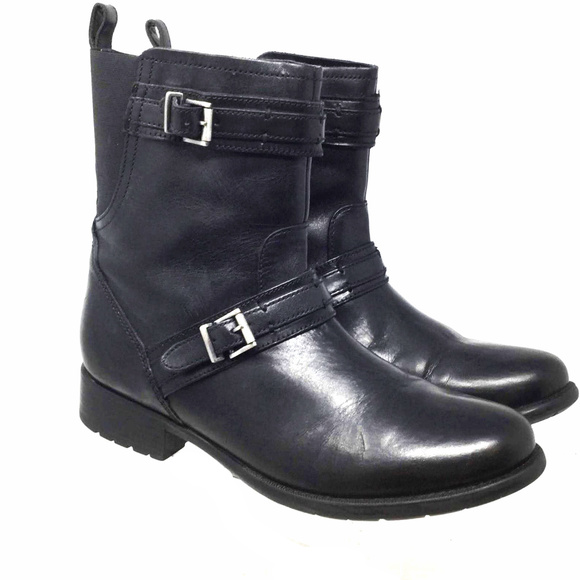 6b7c0f438bb Clarks Shoes - Clarks Soft Cushion Womens Ankle Boots Sz 9 Black